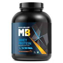 MuscleBlaze 100% Whey Protein (Rich Milk Chocolate, 4lb)