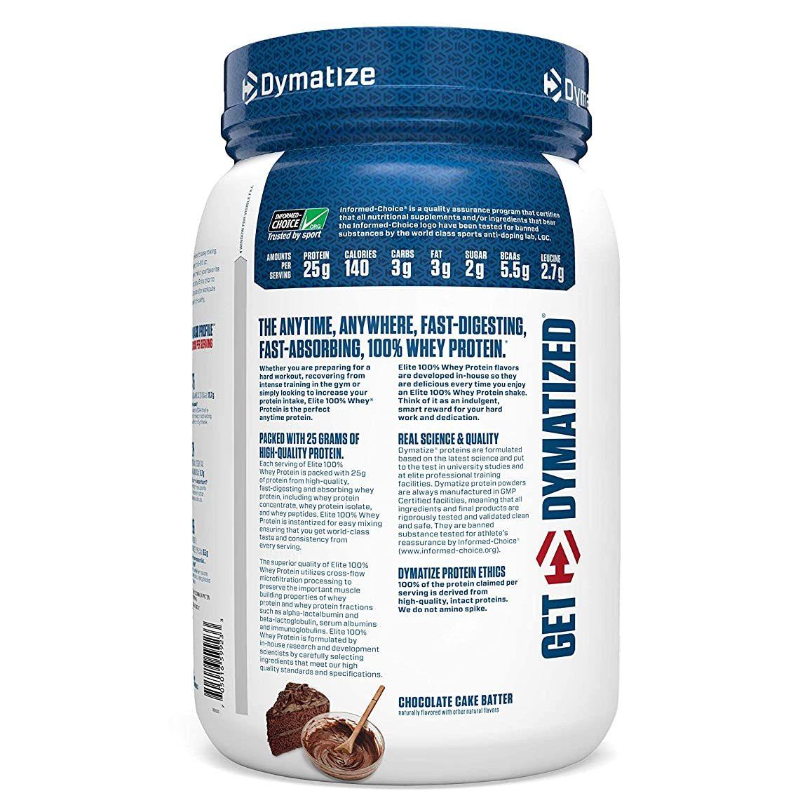 Dymatize Elite 100% Whey Protein (2lb)