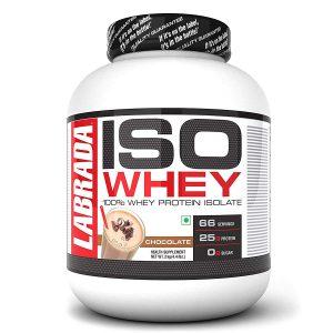 Labrada ISO WHEY 100% Whey Protein Isolate ( Chocolate, 4.4lb)