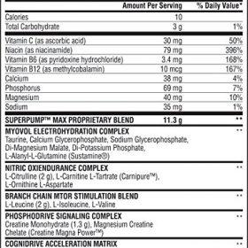 nutriara Gaspari Nutrition Super Pump Max 640g