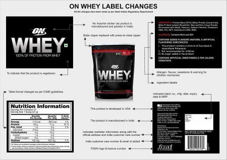 nutriara optimum nutrition (on) 100% whey protein