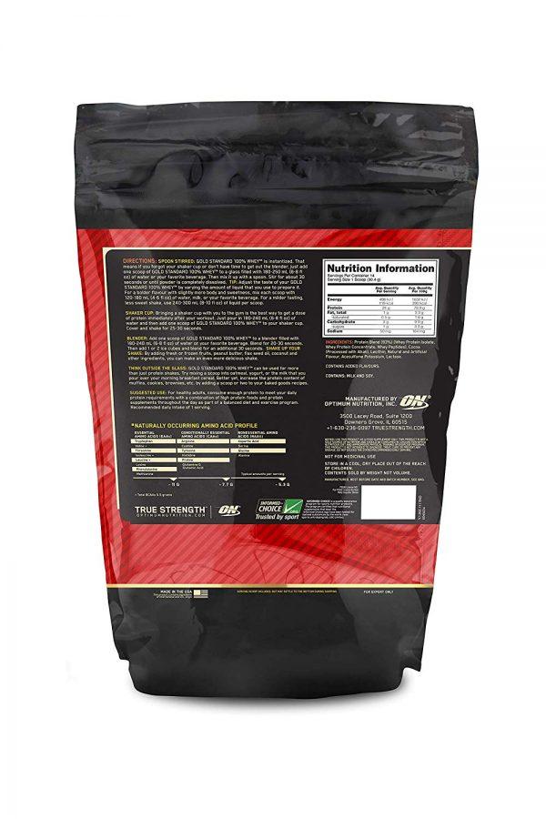 nutriara Optimum Nutrition (ON) Gold Standard 100% Whey Protein Powder - 1 lb