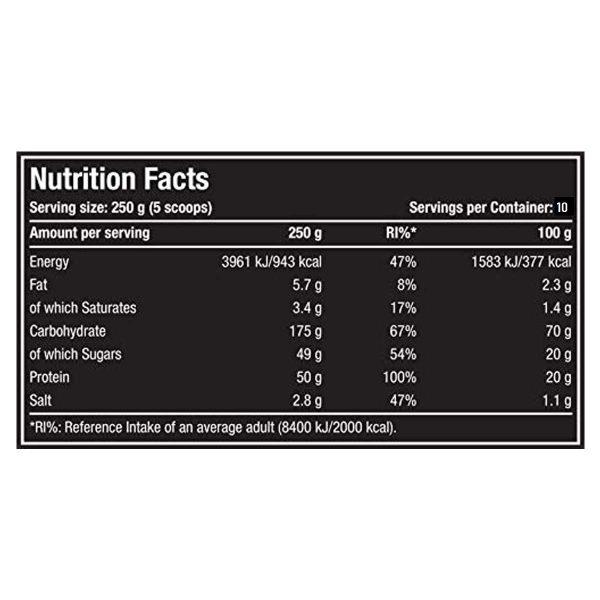nutriara One Science Nutrition XL Super Mass Gainer(2.5kg)